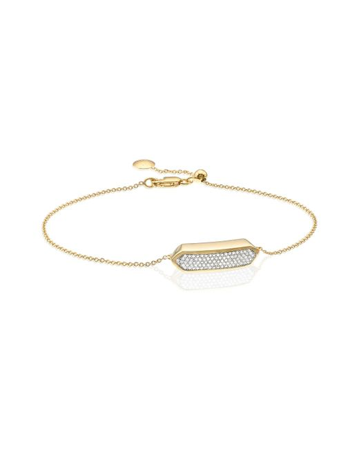 Monica Vinader | Metallic Baja Mini Bracelet - Diamond | Lyst