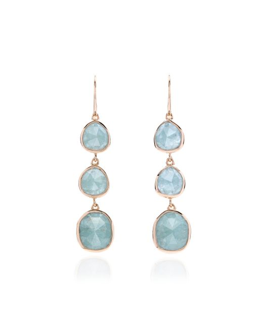 Monica Vinader | Blue Siren Wire Cocktail Earrings | Lyst