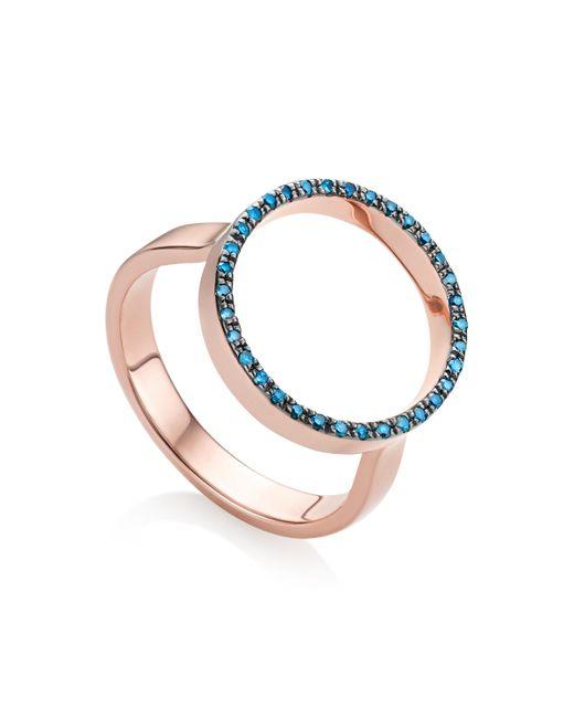 Monica Vinader - Blue Naida Circle Open Ring - Lyst