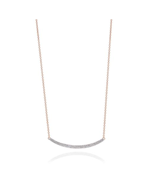 Monica Vinader | White Skinny Curve Necklace | Lyst