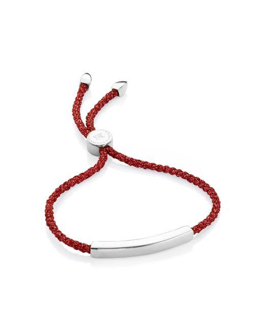 Monica Vinader | Red Linear Friendship Bracelet | Lyst