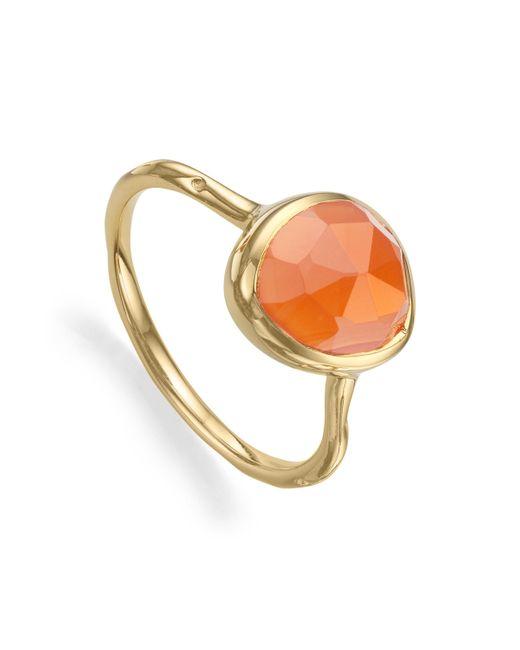 Monica Vinader | Orange Siren Stacking Ring | Lyst