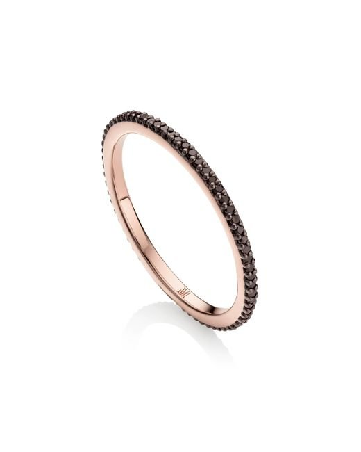 Monica Vinader | Black Skinny Eternity Ring | Lyst