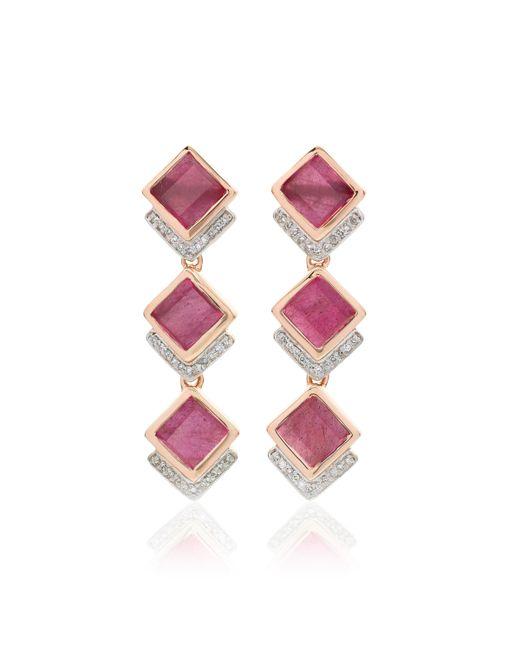 Monica Vinader | Pink Baja Precious Cocktail Earrings | Lyst