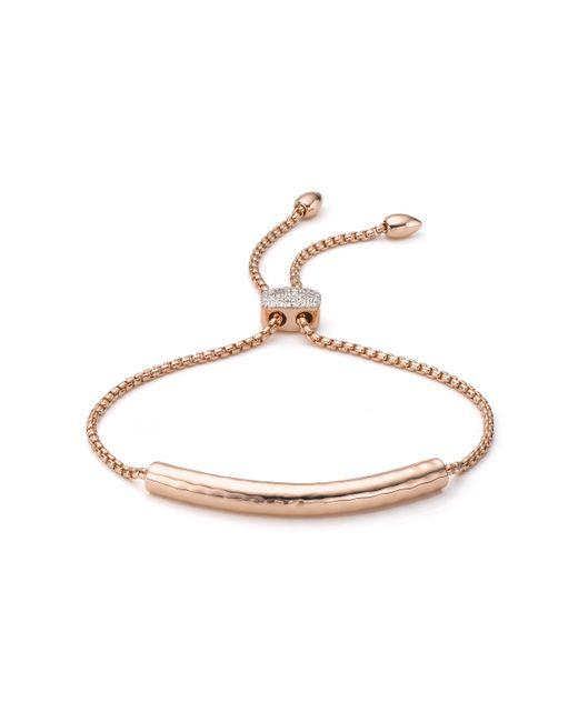 Monica Vinader | Pink Esencia Diamond Toggle Bracelet | Lyst