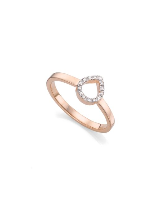 Monica Vinader | Pink Naida Mini Lotus Open Ring | Lyst