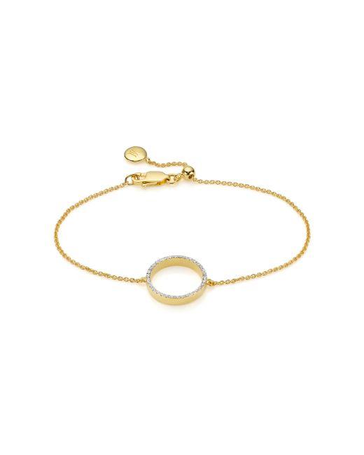 Monica Vinader | Metallic Naida Circle Open Bracelet | Lyst