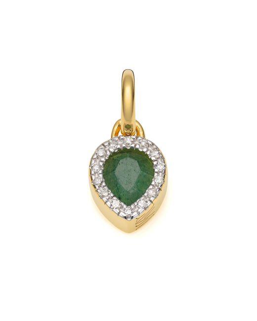 Monica Vinader | Green Naida Mini Lotus Pendant | Lyst