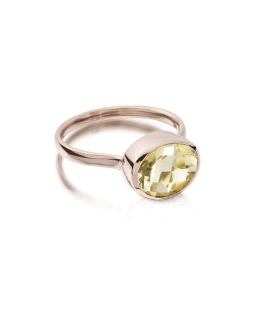 Monica Vinader | Metallic Candy Oval Ring | Lyst