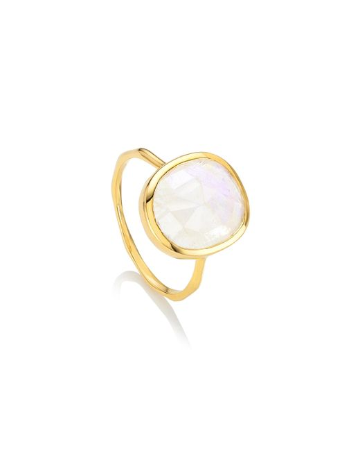Monica Vinader | Metallic Siren Medium Stacking Ring | Lyst