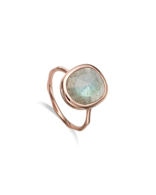 Monica Vinader | Pink Siren Medium Stacking Ring | Lyst