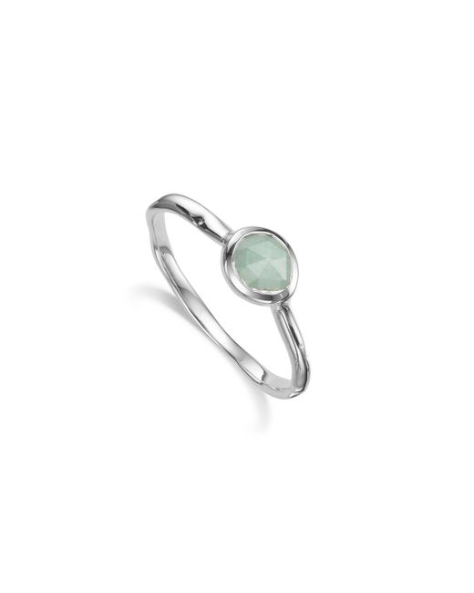 Monica Vinader | Blue Siren Small Stacking Ring | Lyst