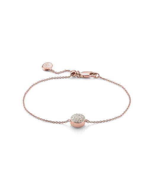 Monica Vinader - Pink Ava Button Bracelet - Lyst