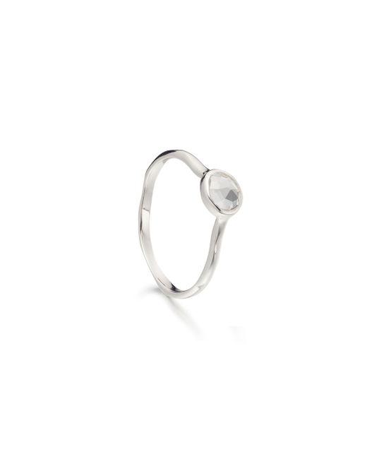 Monica Vinader | Metallic Siren Small Stacking Ring | Lyst