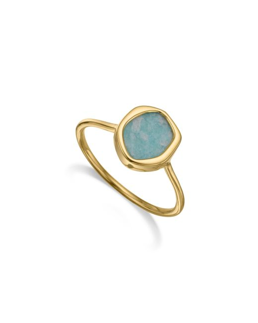 Monica Vinader | Blue Atlantis Gem Mini Stacking Ring | Lyst