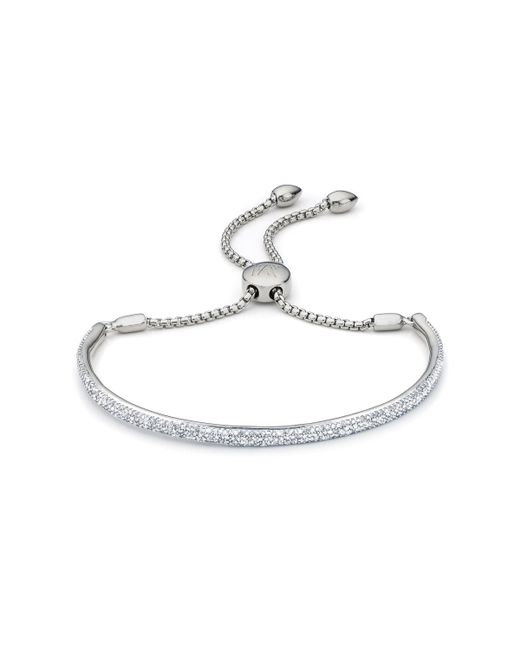 Monica Vinader | Metallic Fiji Pave Bar Petite Bracelet - Diamond | Lyst