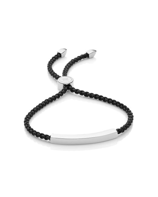 Monica Vinader | Black Linear Friendship Bracelet | Lyst