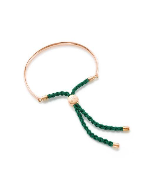 Monica Vinader | Green Fiji Friendship Petite Bracelet | Lyst
