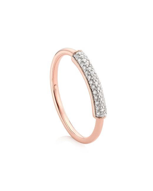 Monica Vinader | Metallic Stellar Diamond Stacking Ring | Lyst