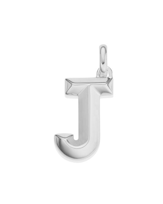 Monica Vinader - Metallic Alphabet Pendant J - Lyst
