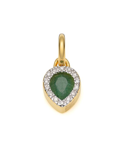 Monica Vinader | Green Naida Mini Lotus Pendant | Lyst