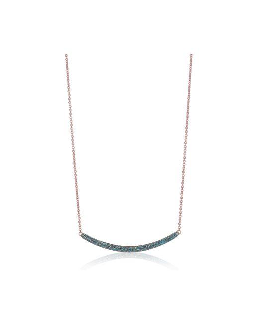 Monica Vinader | Blue Skinny Curve Necklace | Lyst