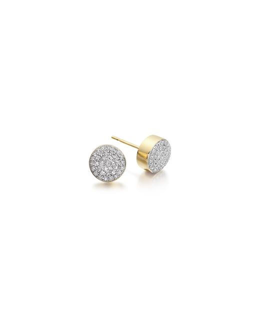 Monica Vinader - Metallic Ava Button Stud Earrings - Lyst