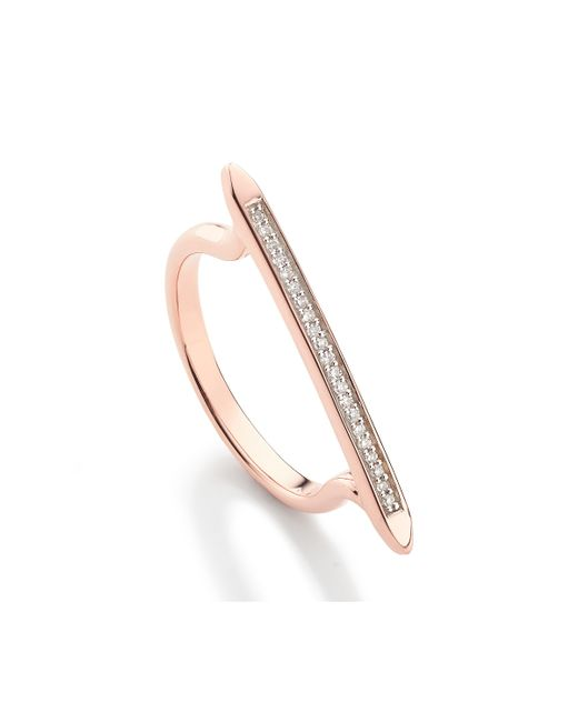Monica Vinader | Pink Skinny Stacking Ring | Lyst