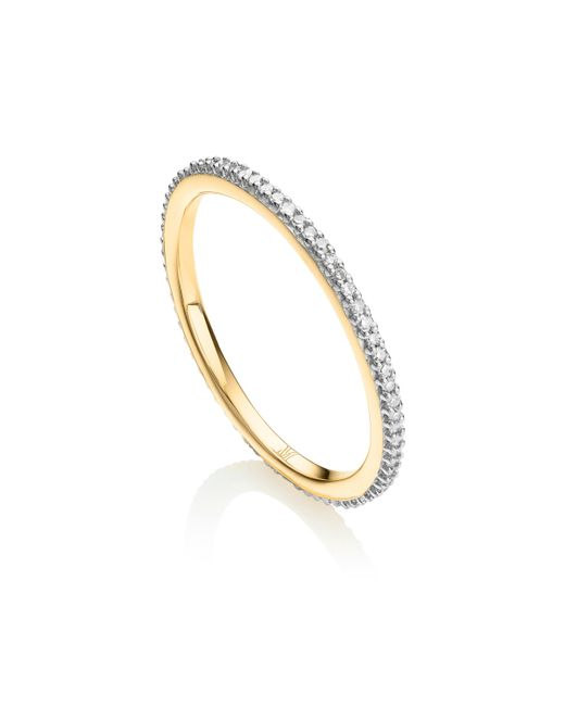 Monica Vinader - Metallic Skinny Eternity Diamond Ring - Lyst
