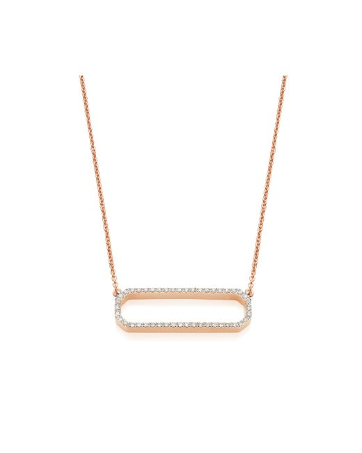 Monica Vinader - Multicolor Naida Rectangle Open Necklace - Lyst