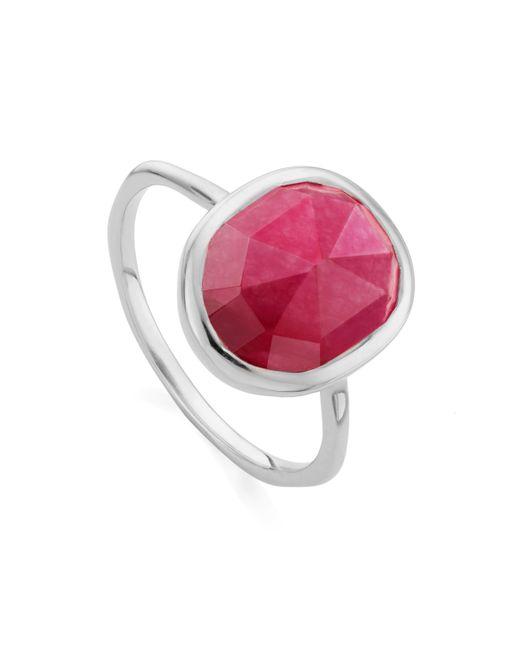 Monica Vinader - Pink Siren Medium Stacking Ring - Lyst