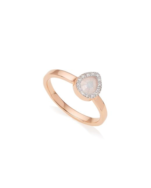 Monica Vinader - Pink Naida Mini Lotus Ring - Lyst