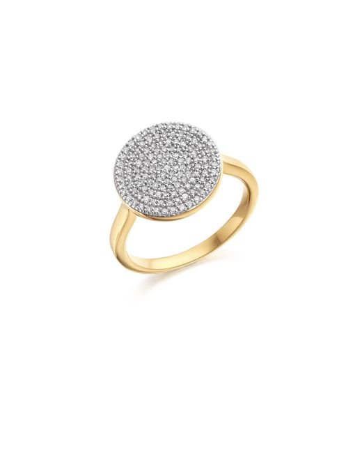 Monica Vinader - Metallic Ava Disc Ring - Lyst