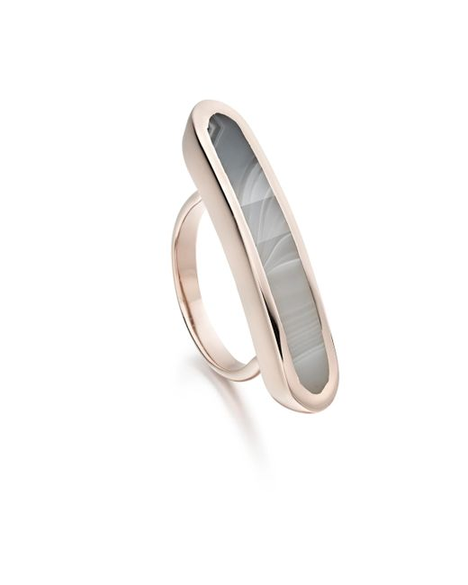 Monica Vinader - Pink Baja Long Ring - Lyst