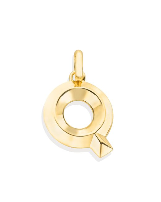 Monica Vinader - Metallic Alphabet Q Pendant Charm - Lyst