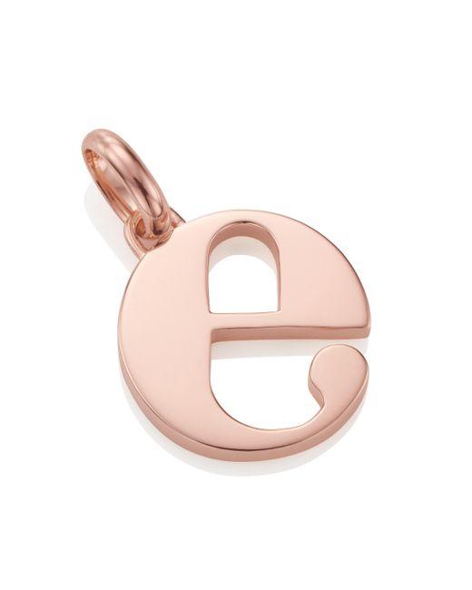 Monica Vinader - Pink Alphabet Pendant E - Lyst