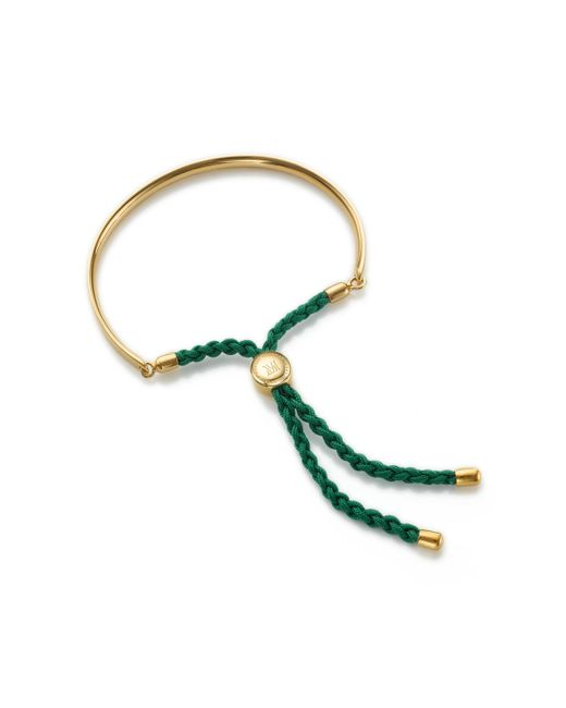 Monica Vinader - Green Fiji Friendship Bracelet - Lyst