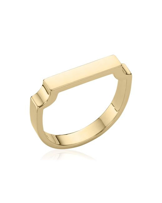 Monica Vinader - Metallic Signature Ring - Lyst