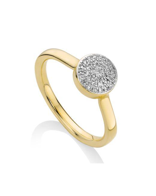 Monica Vinader   Metallic Ava Button Ring   Lyst