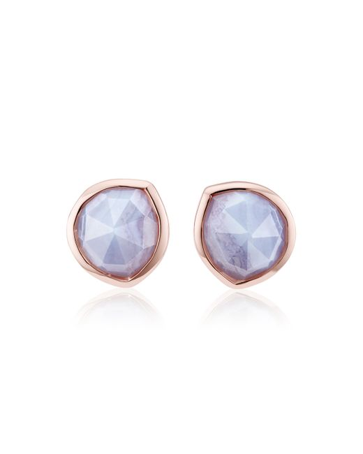 Monica Vinader - Blue Siren Stud Earrings - Lyst