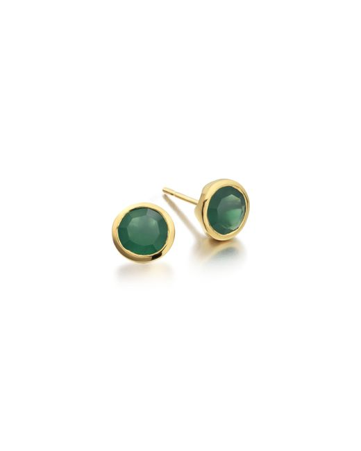 Monica Vinader | Green Isla Stud Earrings | Lyst