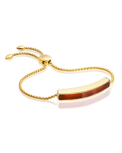 Monica Vinader   Red Baja Bracelet   Lyst