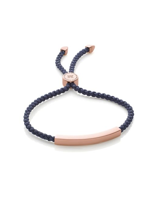 Monica Vinader | Blue Linear Friendship Bracelet | Lyst