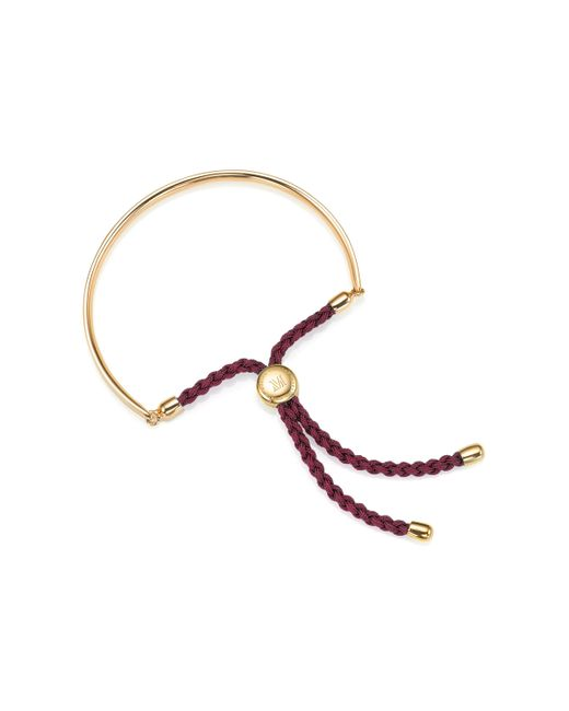 Monica Vinader | Red Fiji Friendship Bracelet | Lyst