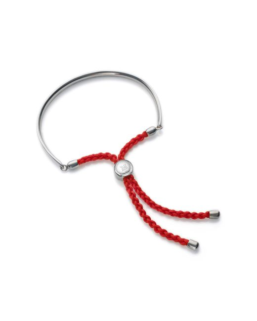 Monica Vinader - Red Fiji Friendship Bracelet - Lyst