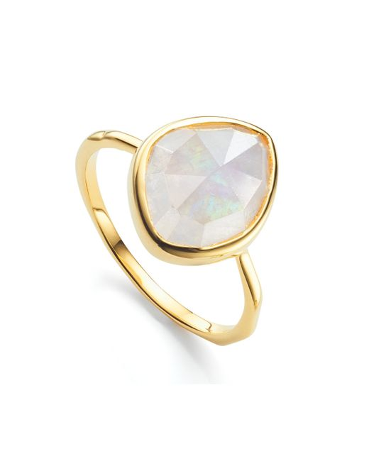 Monica Vinader - Multicolor Siren Small Nugget Stacking Ring - Lyst