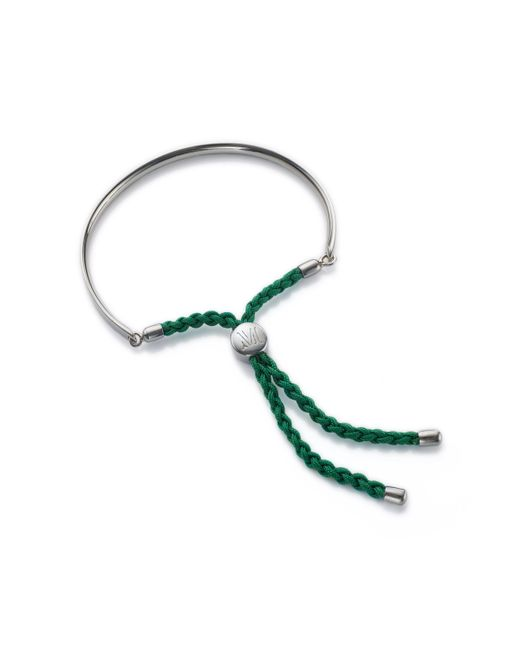 Monica Vinader - Green Fiji Friendship Bracelet - Lyst