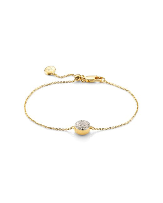 Monica Vinader - Metallic Ava Button Bracelet - Lyst