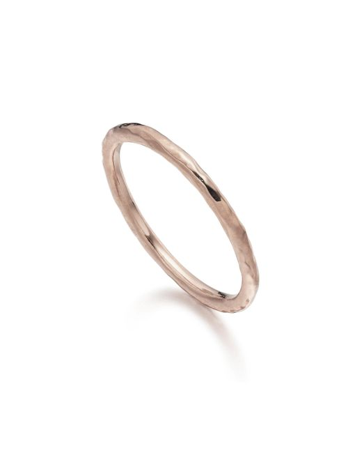Monica Vinader | Pink Hammered Ring | Lyst