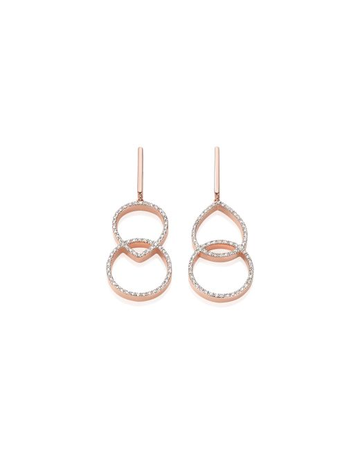Monica Vinader - Pink Naida Kiss Open Cocktail Earrings - Lyst